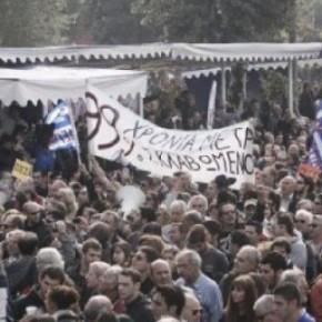 Παρέλαση εξπρές για το φόβο της διαδήλωσης