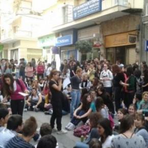 Διαδήλωση μαθητών στη Βέροια - Έκλεψαν την παράσταση